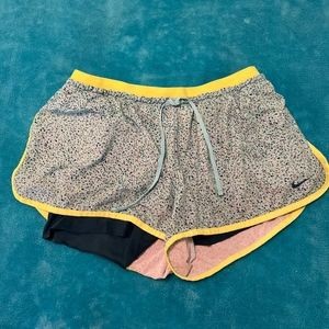 Nike Blue and Yellow Duo Shorts